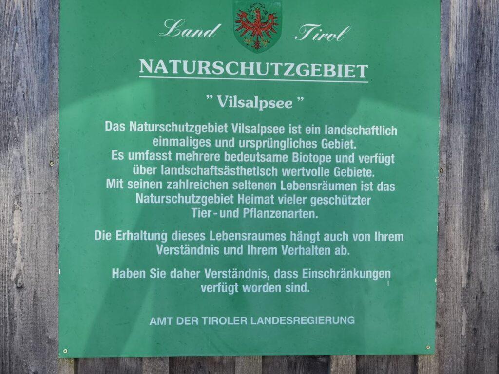 Naturschutzgebiet Vilsalpsee - damit wir auch morgen noch diese Natur genießen können!